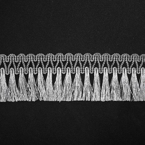 Бахрома металлизированная арт.446 45мм*16,5м