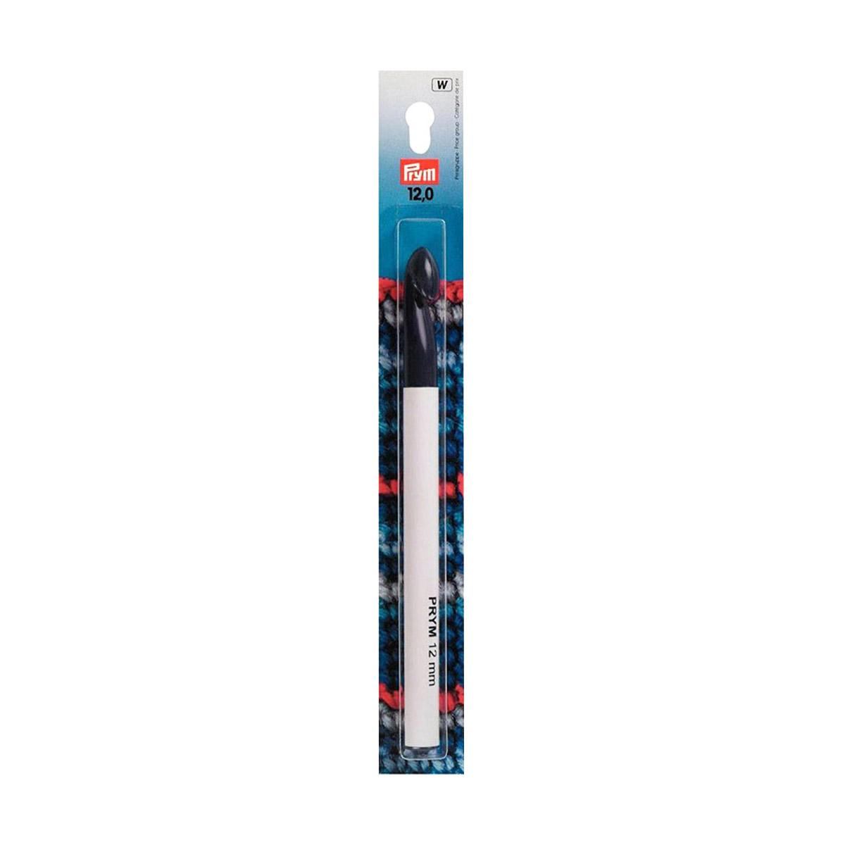 218505 Крючок для вязания, пластик, 12 мм*17 см, Prym