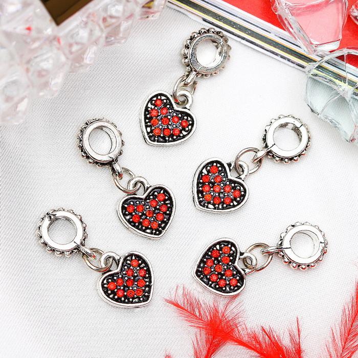 1190640 Подвеска 'Сердце', цвет красный