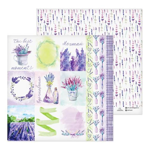 2705197 Бумага для скрапбукинга 'Lavender', 30,5х30,5 см