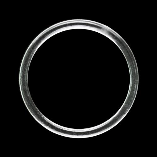 5AS-1881 Кольцо 20мм пластик прозрачный