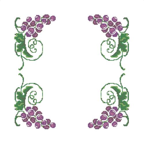 ККСН 006 Набор салфетка для вышивки крестом «Виноградная лоза» 45*45см