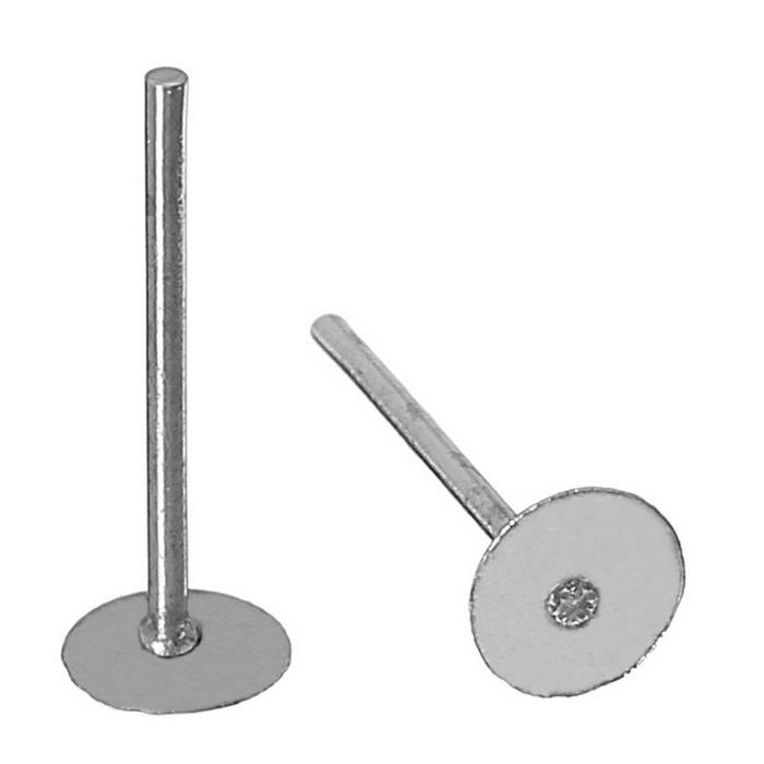 1353673 Швензы 'Гвоздики' для изготовления пуссет, 4 мм (набор 5пар), цвет серебро