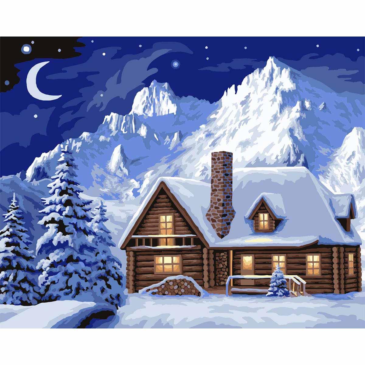 A102 Набор для рисования по номерам 'Зимний уют' 40*50см