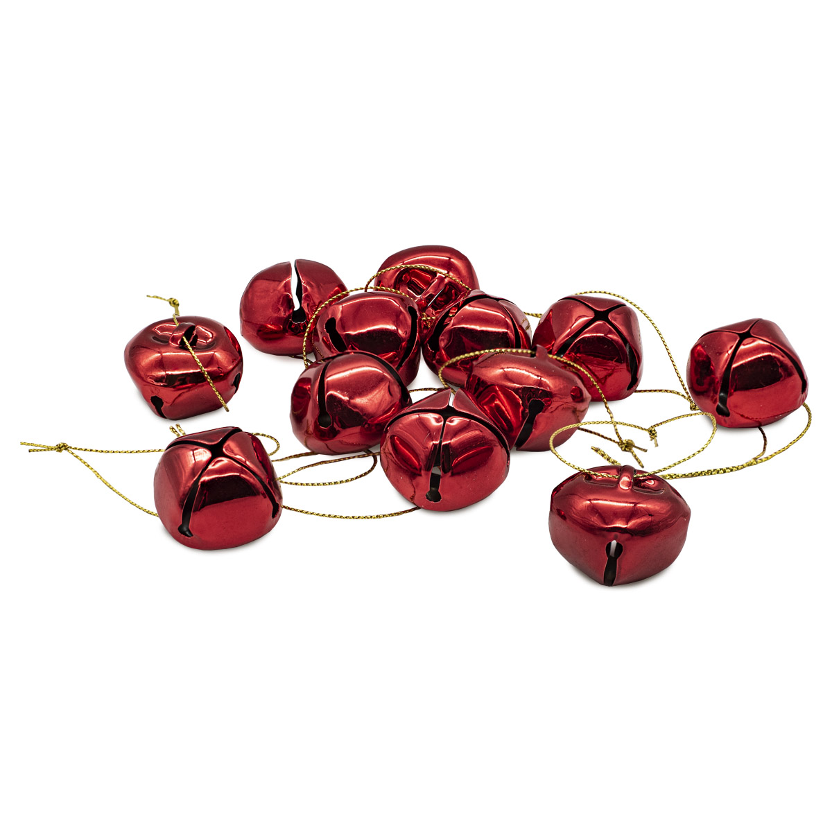 XY19-776 Бубенчики, красные, 4см, 12шт/упак.