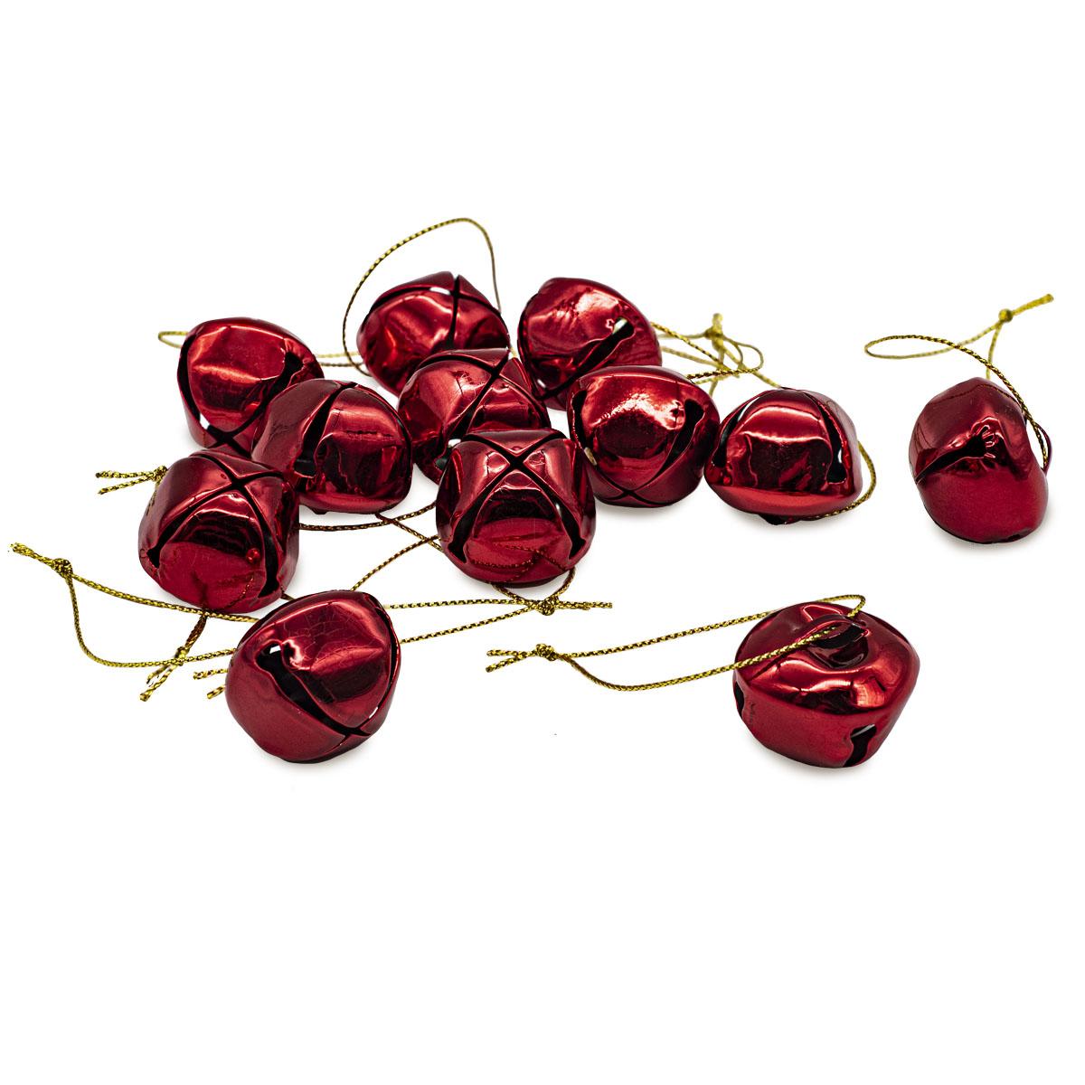 XY19-778 Бубенчики, красные, 3см, 12шт/упак.