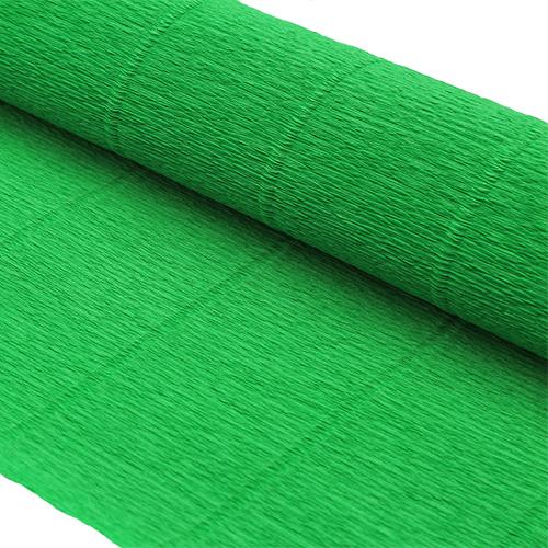 87527558 Бумага гофрированная простая, 50см*2,5м 140гр 963 зеленая