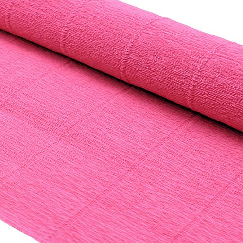 87527559 Бумага гофрированная простая, 50см*2,5м 140гр 951 ярко-розовая