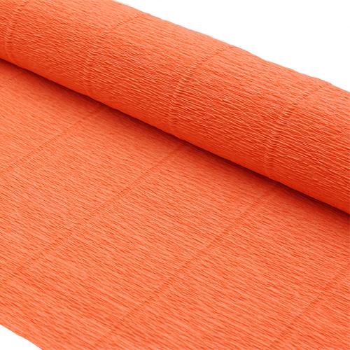 87528092 Бумага гофрированная простая, 50см*2,5м 140гр 981 оранжевая