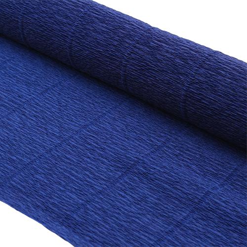 87528093 Бумага гофрированная простая, 50см*2,5м 140гр 955 темно-синяя