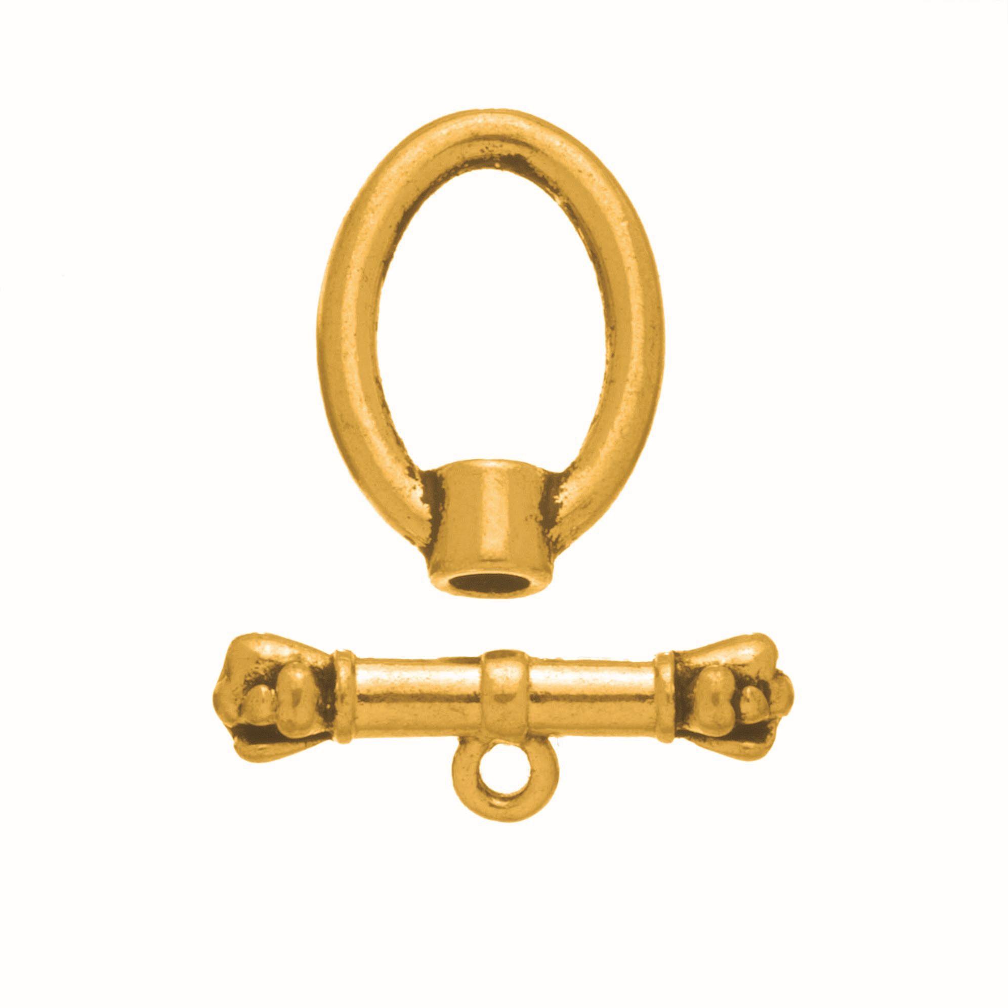 63714003 Застежка металлическая овальная 4шт золото Glorex