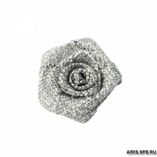 Цветы пришивные люрекс 1,9см