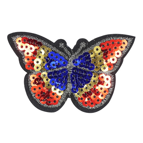 5AS-229 Термоаппликация 'Бабочка' из пайеток 8,5х5см
