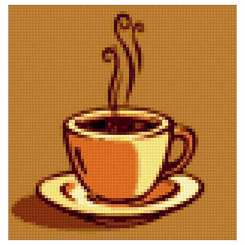 АЖ-1175 Картина стразами 'Алмазная живопись' 'Ваш кофе', 20*20 см