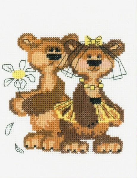 НВ-088 Набор для вышивания Riolis 'Маша+Миша', 13*16 см