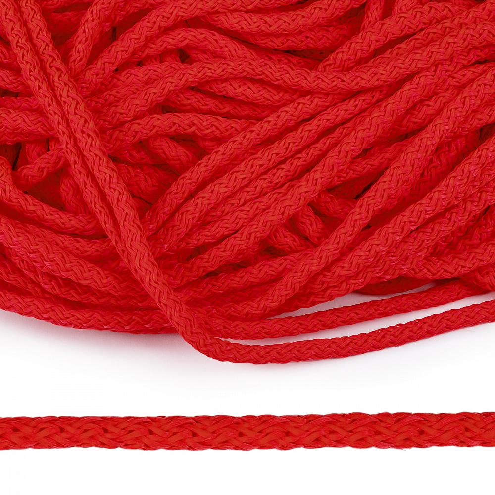 Шнур полипропилен пп6 для люверсов пикколо 6мм цв.красный уп.100м, TWПП0618100