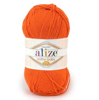 Пряжа ALIZE 'Cotton Baby Soft' 100гр. 270м. (50% хлопок, 50% акрил)