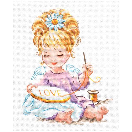 33-24 Набор для вышивания Чудесная игла 'Маленькая рукодельница' 15*18см