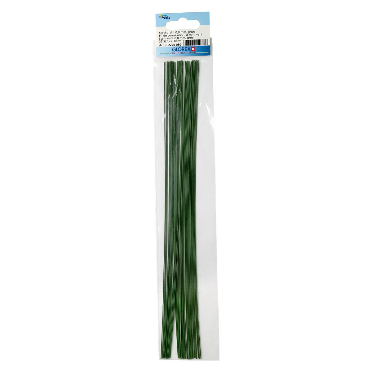 62220080 Проволока, зеленый цв. 0,80мм, 30см, 35шт Glorex