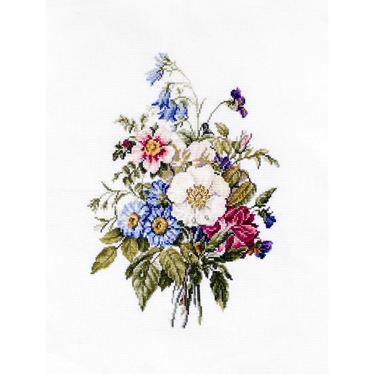 BU4004 Набор для вышивания 'Букет летних цветов' 21*28,5см, Luca-S