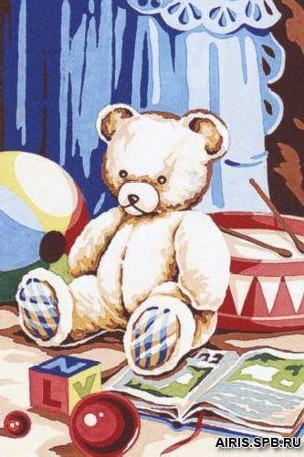 SE928-267 Канва с рисунком SEG de Paris 'Детская комната' 30*40 см