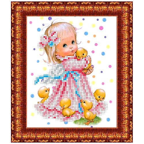 КБА-5016 Канва с рисунком для бисера 'Веселый хоровод' А5