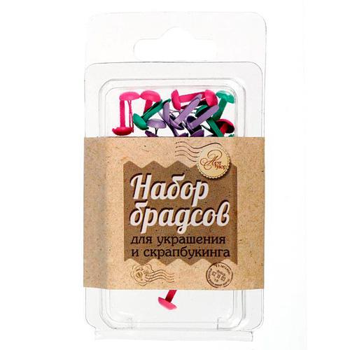 1512154 Набор брадсов «Любимые оттенки шебби», 30 шт, 4,5 * 8,5 * 1 см