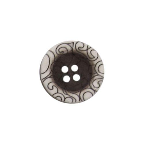 L-275/135746/4 28 (01) Пуговица 4 прокола чер./бел.мат.полиэстер 'узор'