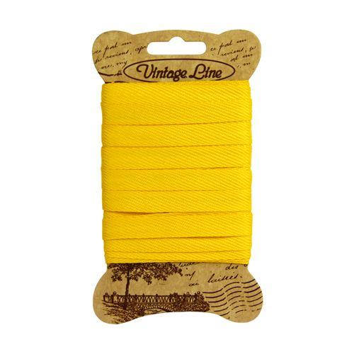 70 Лента отделочная тканая 8мм*5м (вискоза) желтый