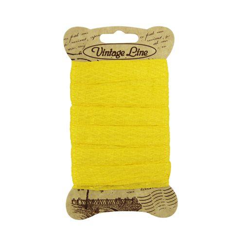 193 Лента отделочная тканая 13мм*5м (вискоза) желтый