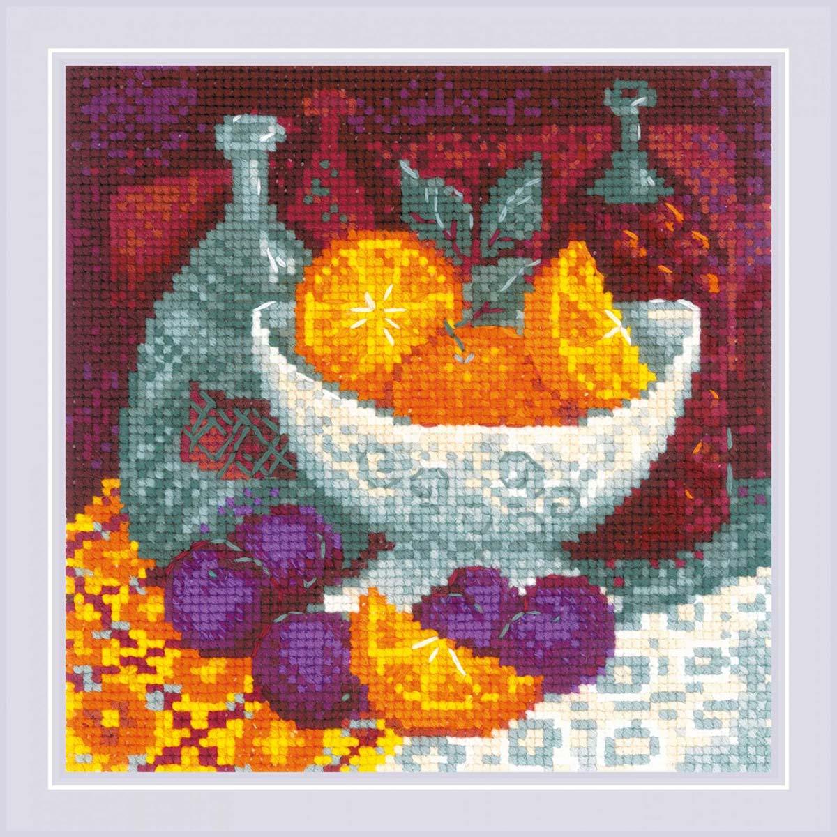 1859 Набор для вышивания Риолис 'Апельсины' 20*20см