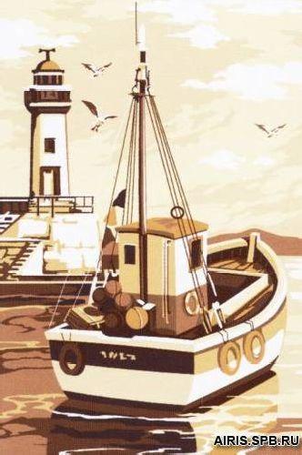 SE928-302 Канва с рисунком SEG de Paris 'Морской пейзаж' 30*40 см