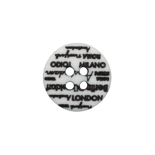 L-36/11886/4 20 (01) Пуговица 4 прокола бел./черн.мат.полиэстер 'города'