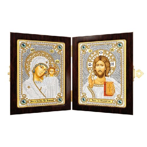 СМ7000 Набор для вышивания бисером 'Нова Слобода' 'Богородица Казанская и Христос Спаситель', 7х10 см