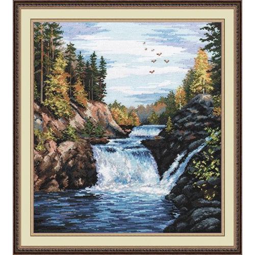 560 Набор для вышивания 'Овен' 'Водопад 'Кивач', 29х35 см
