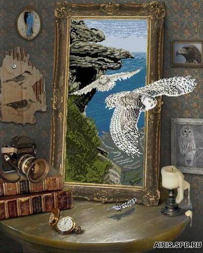 10111 Набор для вышивания Краса и творчество 'Полет совы' 46,8*57,4 см