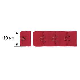 27163 Крючки и петли 19 мм, F.2587.000-1AEH-02., (2 шт) цв.красный (100)