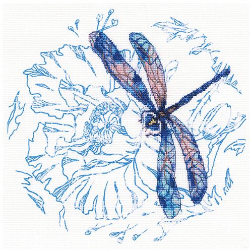 М70023 Набор для вышивания РТО 'Танец стрекоз 2'21*21 см