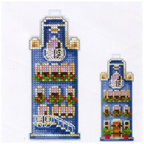 Д-18 Набор для вышивания 'Домики. Синий домик ' 5х15см