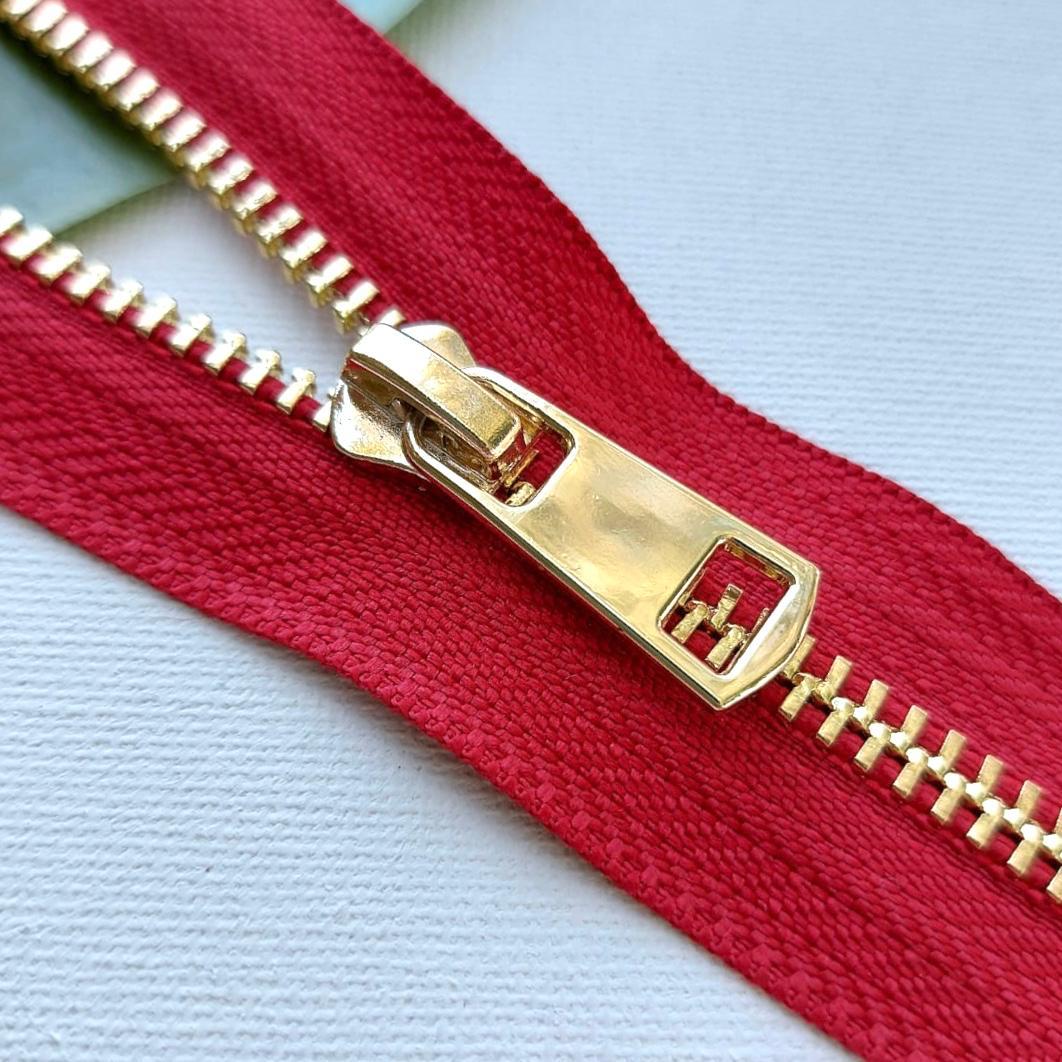 Молния металл №5ТТ золото разъём 70см D171 красный, 2002001722248