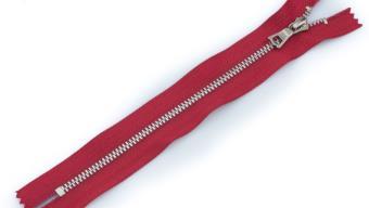 Молния металл №3 ТТ никель н/раз 18см D171 красный, 2135001297604