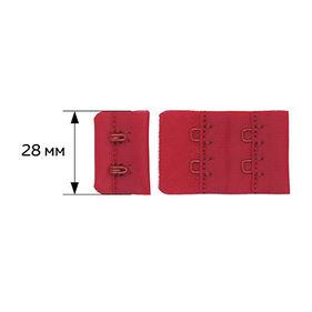 27164 Крючки и петли 28 мм, F.2687.000-2AEH-02, (2 шт) цв.красный (100)