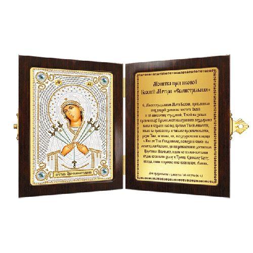 СМ7007 Набор для вышивания бисером 'Нова Слобода' 'Богородица Семистрельная', 7x10 см