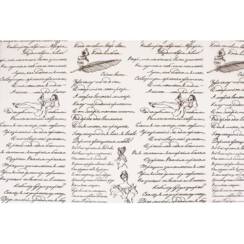 54088 Пленка цветная Пушкинские строки 70см*7,8м черный