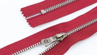 Молния металл №3 ТТ никель н/раз 60см D171 красный, 2135001297611