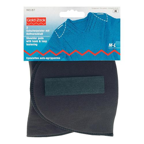 993817 Плечевые накладки с липучкой (M-L), полумесяц, черный, 160*115*15 мм, упак./5 пар, Prym