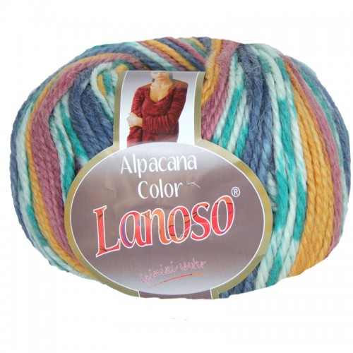 Пряжа Lanoso 'Alpacana Color' 100 гр. 130м (25%альпака 35%меринос 40%акрил)