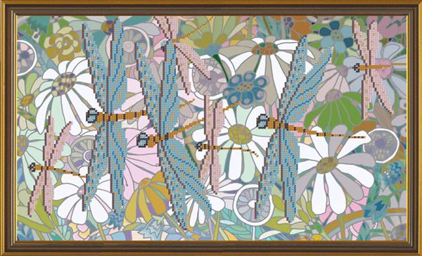 Бис6164 Рисунок на канве для вышивания бисером 'Ромашковое поле'