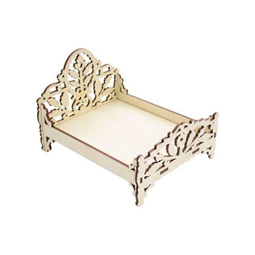 L-501 Деревянная заготовка кровать 'Листья', 12*9,5 см, 'Астра'