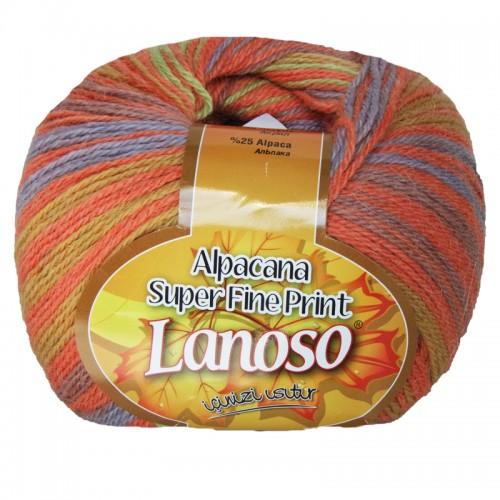 Пряжа Lanoso 'Alpacana Super Fine Printr' 100 гр. 375м (25%альпака 35%шерст